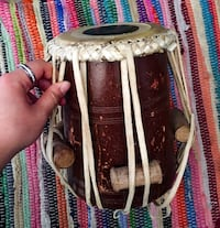 Antique brown and black bongo drum Barrie, L4N 8P6