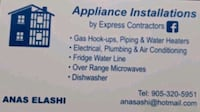 Washing machine installation Hamilton