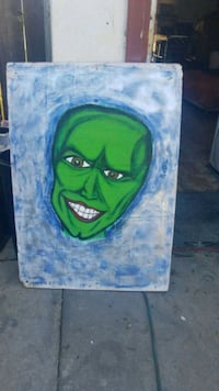 green and blue abstract painting Manteca, 95337