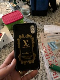 black and brown Louis Vuitton iPhone case
