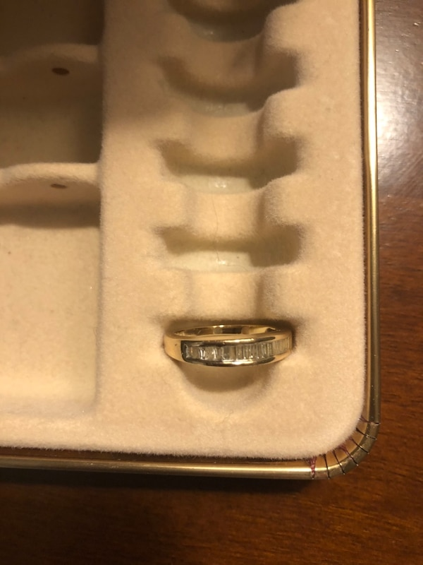 14K Real Gold Wedding Ring with Diamonds 150b53db-3a75-498a-a189-46e55fb54a42