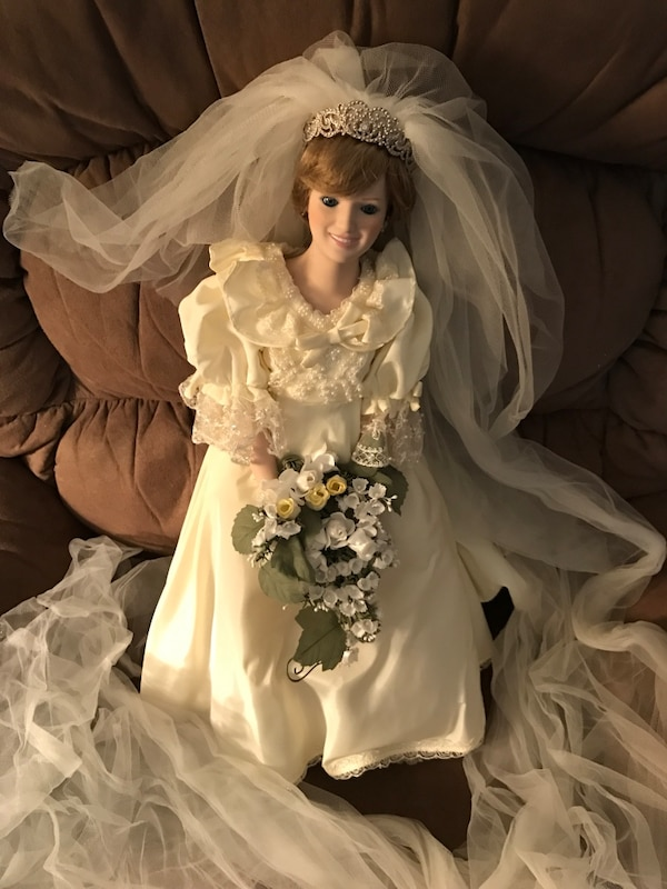 Used Princess Diana doll wedding bridal doll. for sale in Yorktown ...