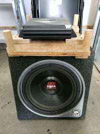 """MTX 12"""" subwoofer and amplifier  Clinton"""