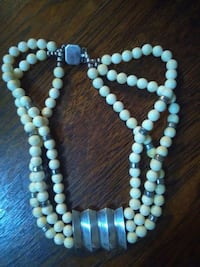 Ivory silver necklace