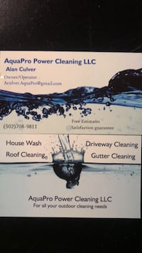 House cleaning, any exterior cleaning  Louisville