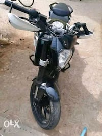 black and gray standard motorcycle Visakhapatnam