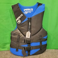 "Hyperlite Men's Small 32-36"" Chest Life Jacket - Blue & Black 73107"