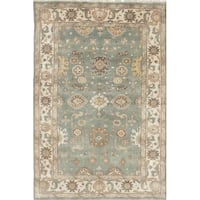 NEW HAND-KNOTTED WOOL RUG 6'X9' (PRICED TO SELL) Ajax