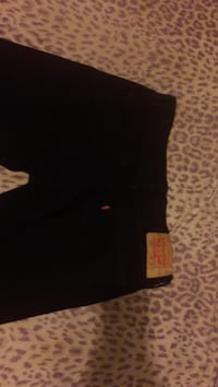 Black Levi jeans, red true religion sweatpants, ny crewneck  Toronto, M6S 2T5