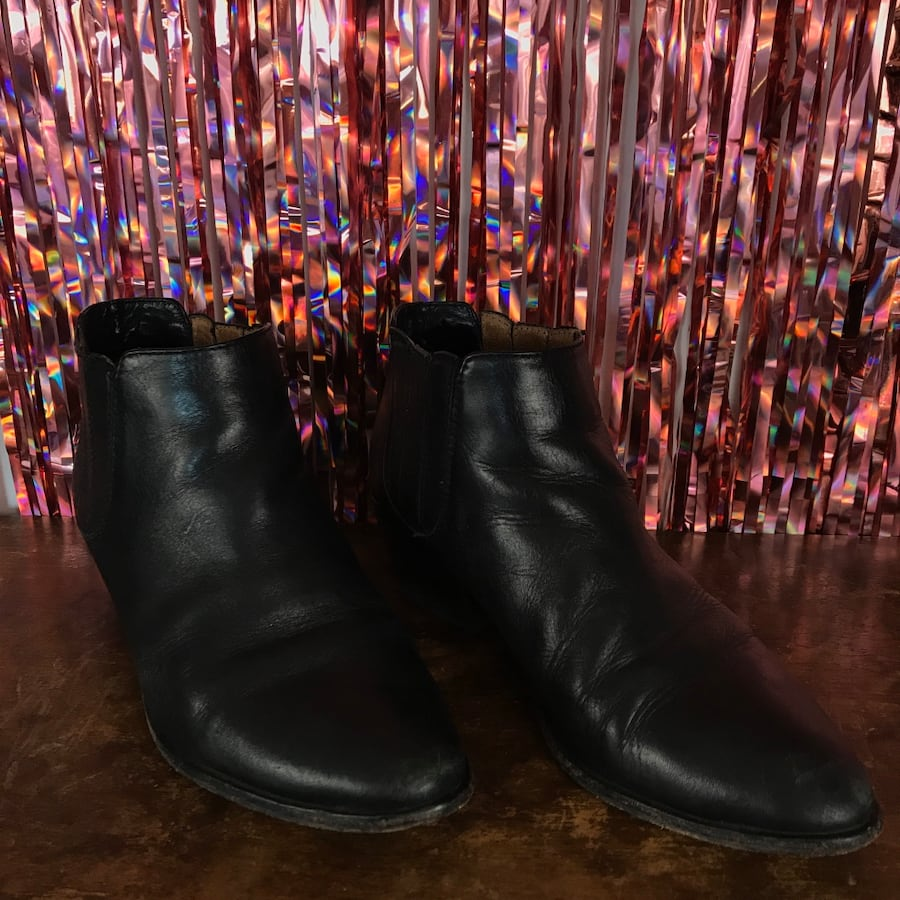 Black Leather 'Barlow' Chelsea Boot 37