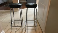 Black metal base with black leather padded seat Mississauga, L5M 0E1