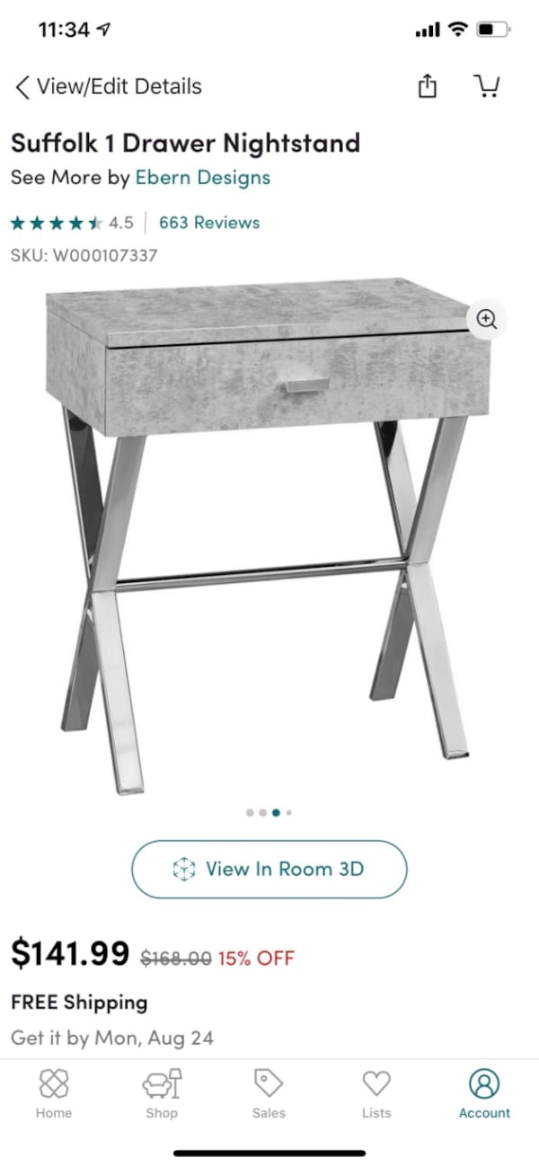 Stylish Gray & Silver Nightstands (2) 9d9ae1fb-bd80-4e2d-8567-e3e8904c91d9