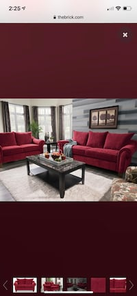 The brick best selling sofa and love seat in red Vaughan, L4H 3K2