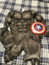 size large boys captain america outfit with shield