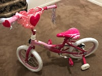 Toddler's pink and white bicycle with training wheels Memphis, 38128