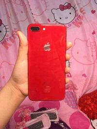 Red iPhone 8 plus with box Fresno, 93721