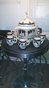 German Punch Bowl Set... with 8 cups Ladson, 29456