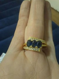 Size 9 ...18k with white and blue sapphire Edmonton, T6A 2L6