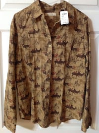 WOMAN'S BRAND NEW WITH TAGS SHIRT Clearview, L0M