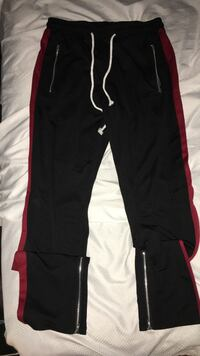 Black and red strap zip pants (migos) St Catharines, L2S 1G4