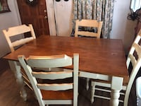 rectangular brown and white wooden dining table with chairs Ocoee, 34761