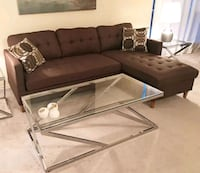 Brand New Brown Linen Sectional Sofa Couch  Silver Spring, 20910