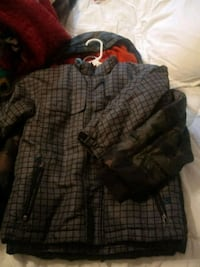 black and gray plaid button-up jacket Houston, 77013