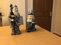 Two white-and-blue ceramic figurines Rockville, 20852