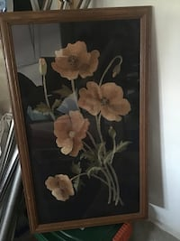 Silk embroidery  picture,framed Vaughan, L6A 0H4