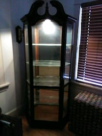 cherry curio cabinet with light Dearborn, 48124