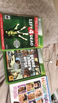 Two xbox 360 game and a movie Baltimore, 21224