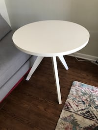 Used West Elm White Lacquer Tripod Table  Arlington, 22201