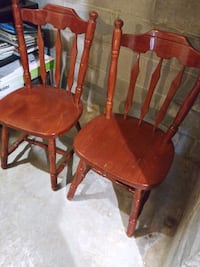 brown wooden windsor chair with red pads Parkton, 21120