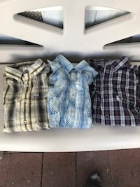 two blue and white plaid button-up shirts Oxnard, 93033