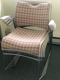 White and gray padded chair Rockville, 20850