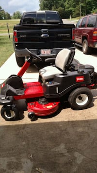 red and black riding mower call  [ [PHONE NUMBER H Henderson, 27537