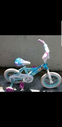 toddler's blue and pink bicycle with training wheels Toronto, M4H 1J5