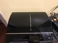 Black sony ps3 game console