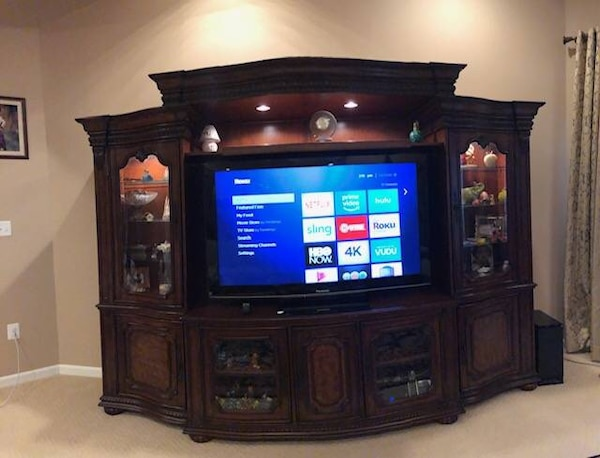 Used TV Console Hooker Furniture