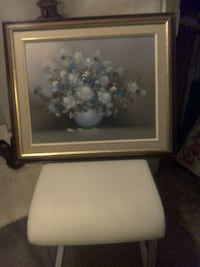 white and blue flower painting  Kingston