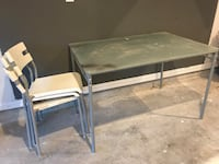 Rectangular ikea table with 3 chairs in good condition Houston, 77063