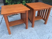 End tables beautiful excellent shape will really stand out in any Decour 20.5x20.5x21 Albany, 12210