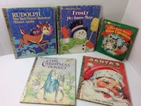 5 Vintage Christmas Little Golden Books Rudolph/Santa/Frosty 3 First Editions Granger