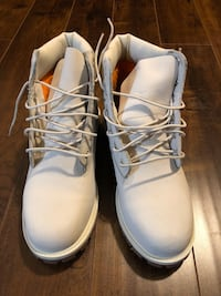 pair of white leather work boots Brampton, L6V 2G8