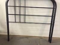 Black twin size bed frame head board and footboard  Gaithersburg, 20879