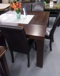 rectangular brown wooden table with six chairs din Philadelphia, 19144
