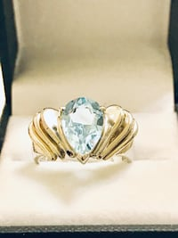 """Black Hills Gold Co. Sterling Silver and Aquamarine """"Retro""""Ring Frederick, 21701"""