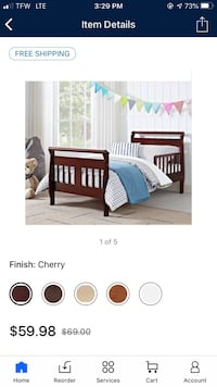 Toddler bed, crib, changing table