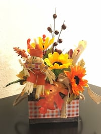 faux yellow and orange sunflowers centerpiece Upland, 91786