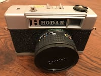 Hodar 35 MM Compact Film Camera Hot Shoe, W/ Case, and Strap